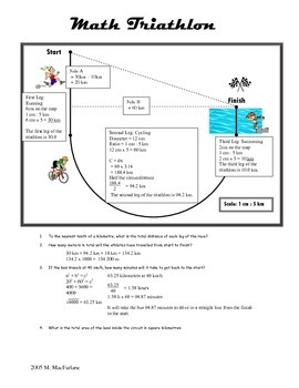 Math Triathlon: grade 7-10 Math Shape and Space