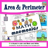 Math Mnemonics (Area and Perimeter Posters)
