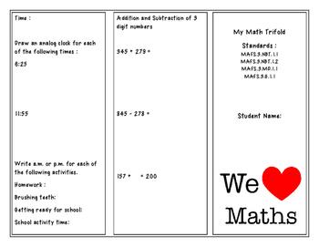Math Trifold