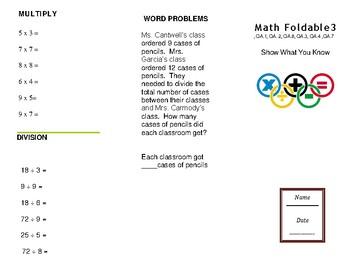 Math Trifold 3 Grade 3
