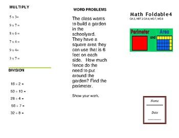 Math Trifold 4 Grade 3