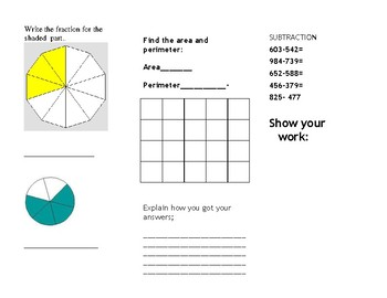 Math Trifold 5 Grade 3