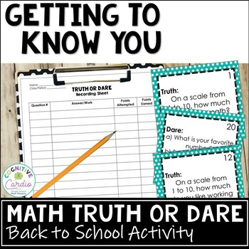 Math Truth or Dare, Getting to Know You