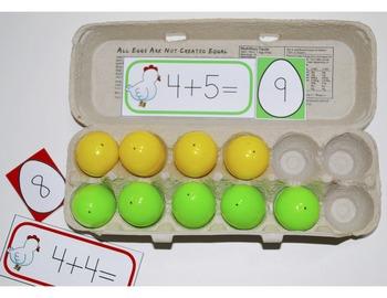 Math Tub Activity: Doubles, Doubles +1