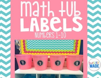 Math Tub Label Numbers