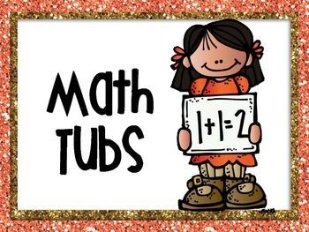 Math Tub Labels 0-20 Glitter Edition