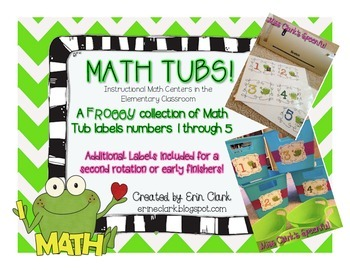 Math Tub Labels 1-5 {Froggy Edition!}