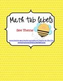 Math Tub Labels (Bee Theme)