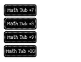 Math Tub Labels (Daily 5 Math or Math Centers)