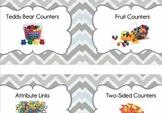 Math Tub Labels (Gray)