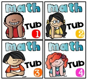Math Tub Labels and Journal Cover Freebie