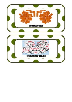 Math Tub Labels_Math Basket Labels