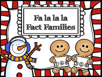 Math Tubs - Falalala Fact Families - Addition and Subtraction