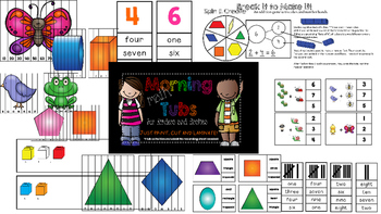 Math Tubs- Morning Edition