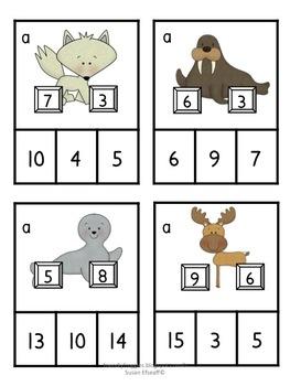 Math Tubs - Part, Part, Whole - Clip It!  Arctic Math