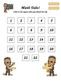Math Tubs - Recording Sheet