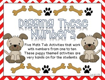 """Numbers One to Ten """"Digging Into Numbers"""""""