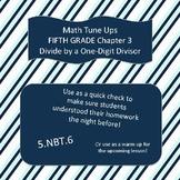 Math Tune Ups - FIFTH Grade - McGraw Hill Ch. 3 - Divide by a One Digit Divisor