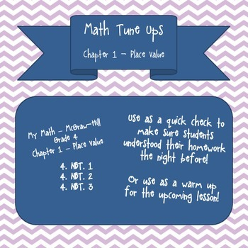 Math Tune Ups - McGraw Hill - Ch. 1 Place Value