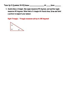 Math Tune Ups - McGraw - Hill Ch. 14 - Geometry