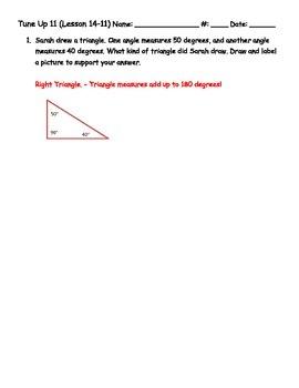 Math Tune Ups - McGraw - Hill Ch. 14 - Geometry
