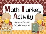 Math Turkey Activity