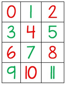 Math Turkey Number/Object Match Center/Activity!