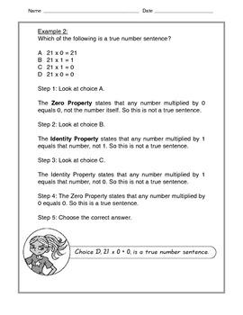 Math -Tutorial and Practice: Commutative, Identity, Zero Property