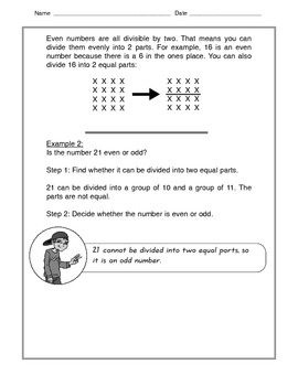 Math -  Tutorial and Practice: Even and Odd Numbers