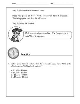 Math - Tutorial and Practice: Negative Numbers