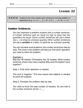 Math - Tutorial and Practice: Number Sentences