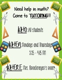 Math Tutoring Poster