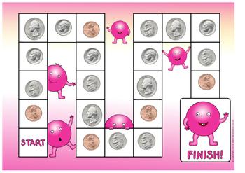 Math: U.S. Coin Identification Board Game