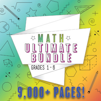 Math Ultimate Bundle for Grades 3-5: ALL Common Core Standards Grades 3-5