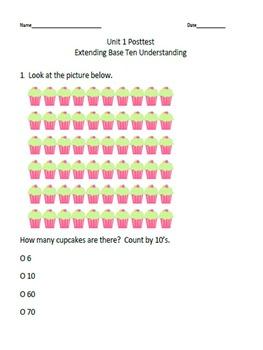 Math Unit 1 Extending Base Ten Understanding Pretest and Post Test