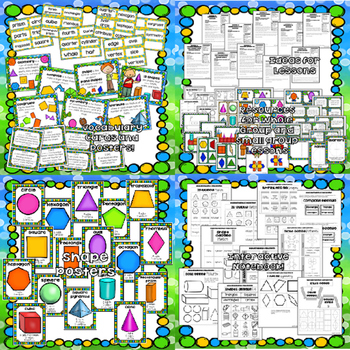 Math! Unit 10 BUNDLE: Geometry  {Lessons and Centers}