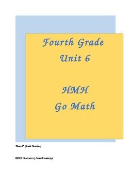Math - 4th Grade HMH Unit 6