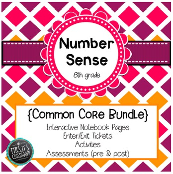 Number Sense Common Core Unit {grade 8}