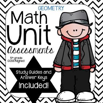 Geometry- Math Unit Assessment (5th Grade)