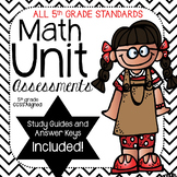 Math Unit Assessments-Common Core Aligned (5th Grade) BUNDLE
