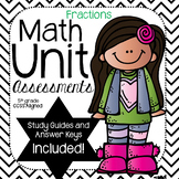 Fractions: Math Unit Assessments- (5th Grade)