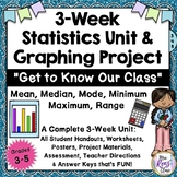 Back to School Statistics Unit and Graphing Unit with Grap