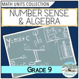 Grade 9 Math Unit: Number Sense & Algebra - Principles of Mathematics - MPM 1D