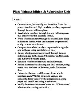 Math Unit Reflections
