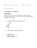 Math Unit Test (Place value, rounding, add/subtract with r