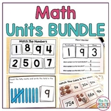 Math Units For Special Education BUNDLE (Leveled & Hands O