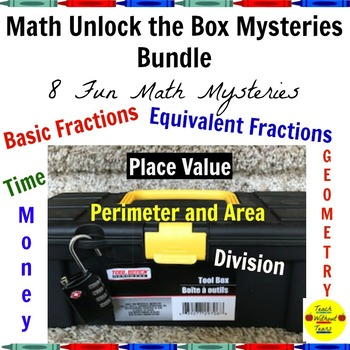 Math Unlock the Box Mysteries Bundle: 8 Fun Math Mysteries