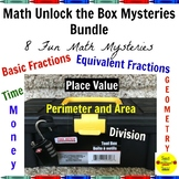 Math Unlock the Box Mysteries Bundle: 11 Fun Math Mysteries