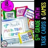 5th Grade Math Centers Task Cards Bundle