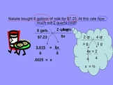 Math Using Proportions in Scale and Conversion Problems